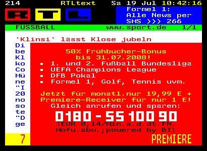 Layerad im RTL Videotext